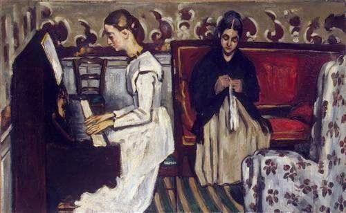 Muchacha al piano (La obertura de Tannhäuser) - Paul Cézanne.