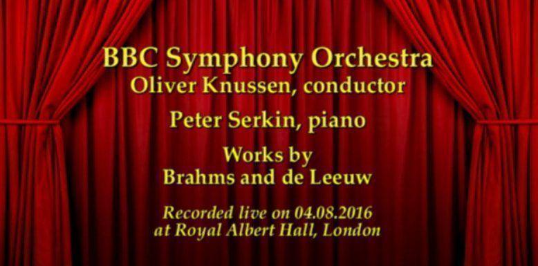 BBC Proms 2016 Brahms